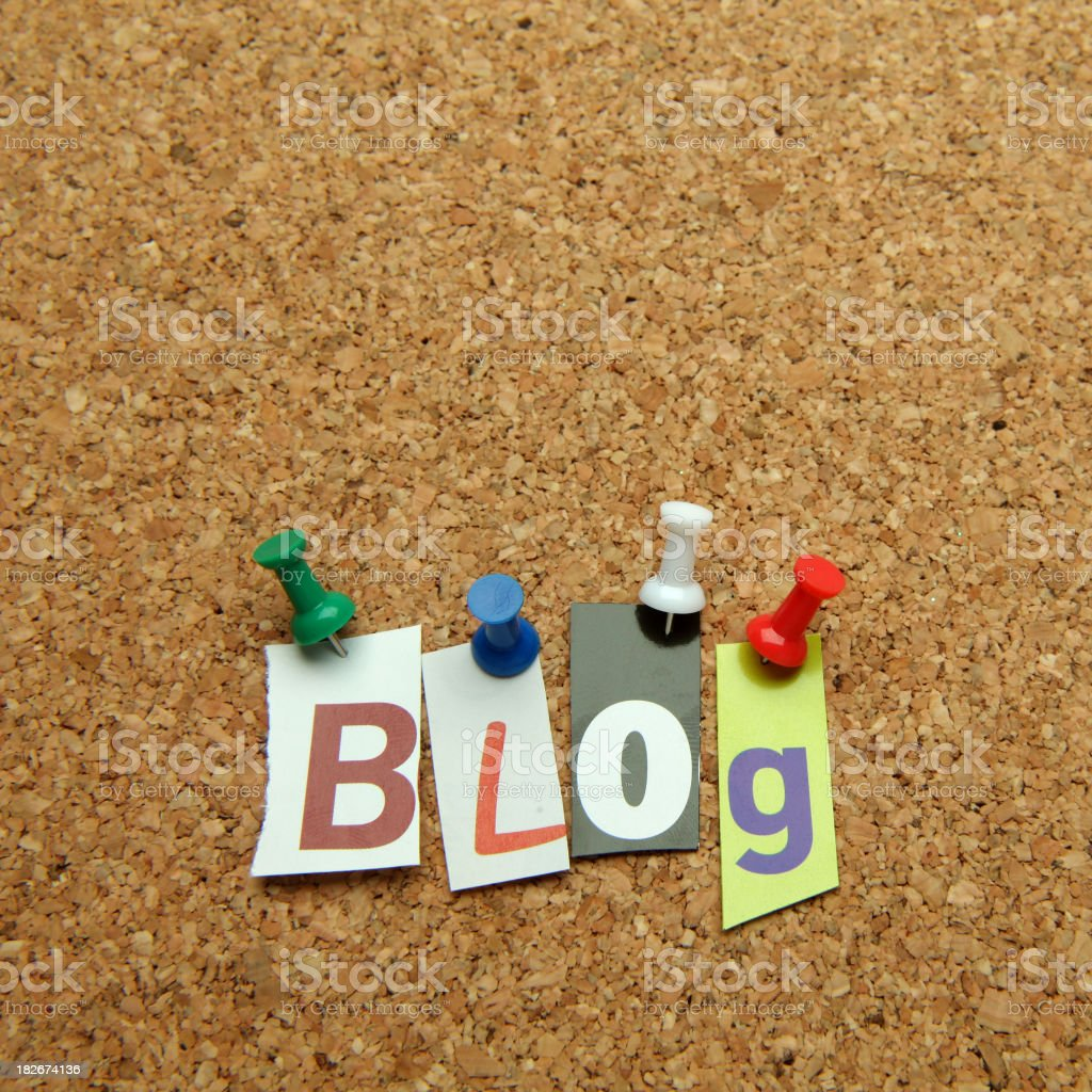 Blog royalty-free stock photo