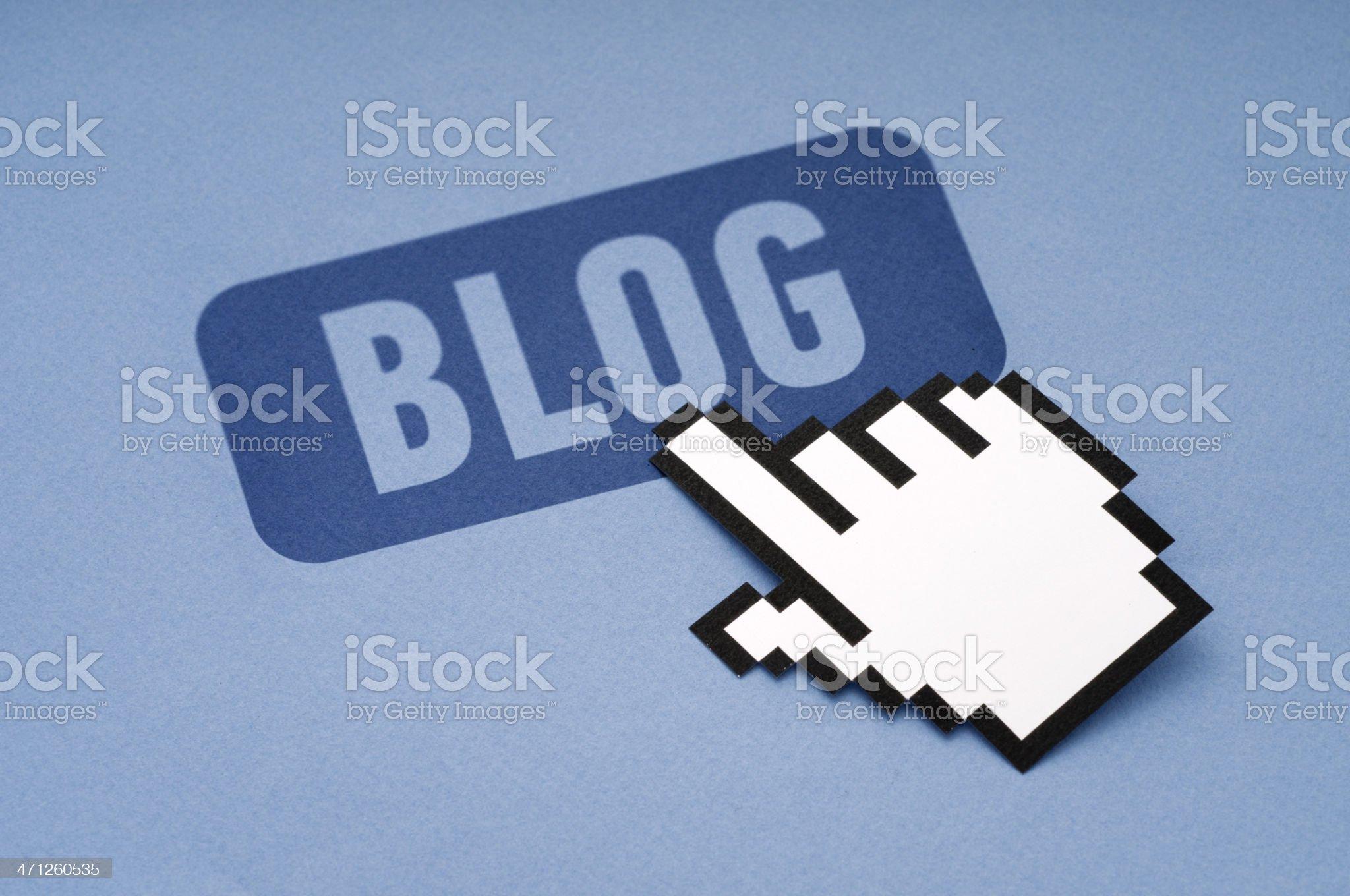 Blog royalty-free stock photo