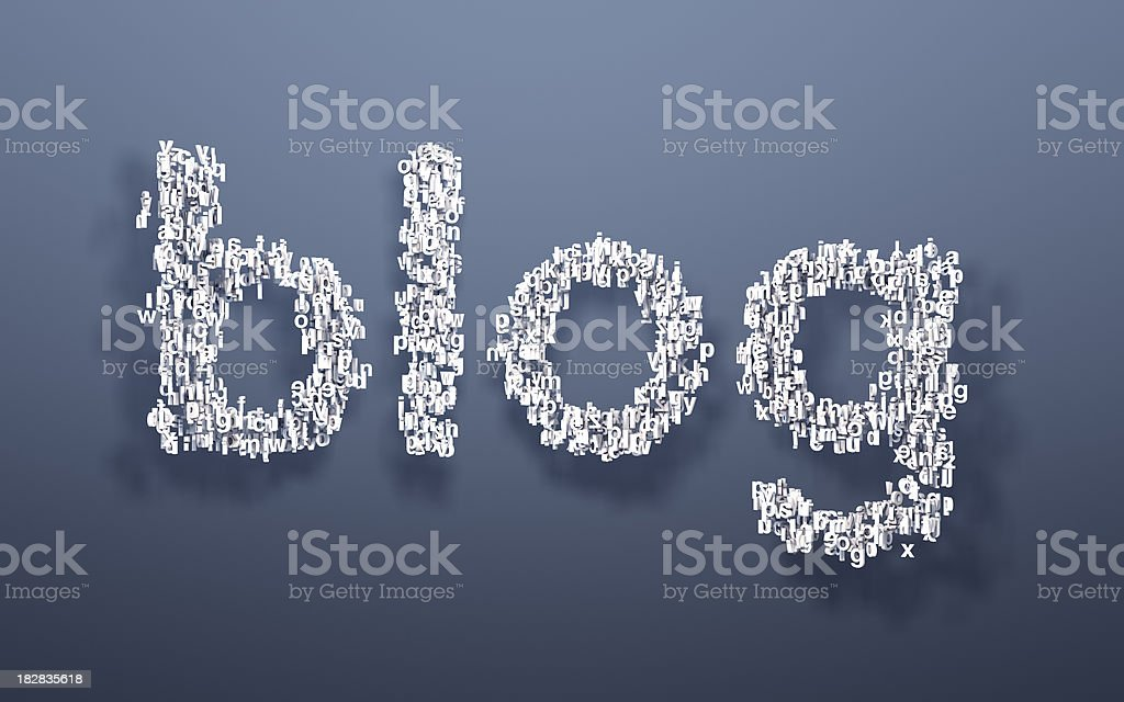 Blog word written in letters royalty-free stock photo