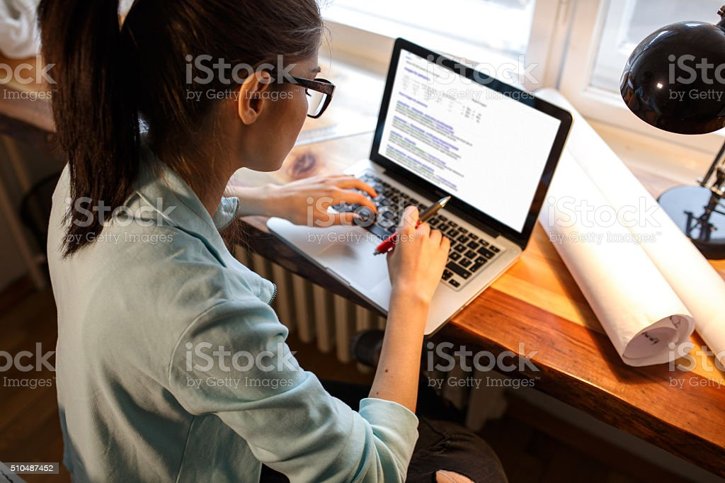 blogger stock photo
