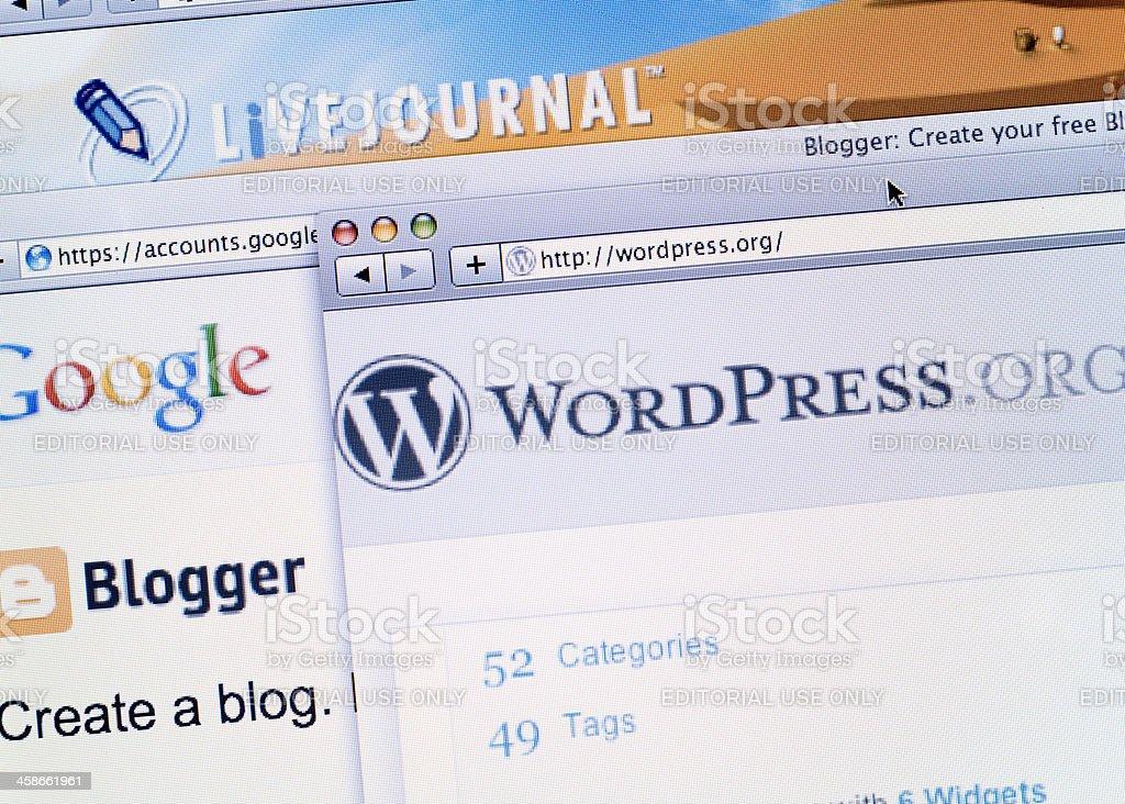 Blogging royalty-free stock photo