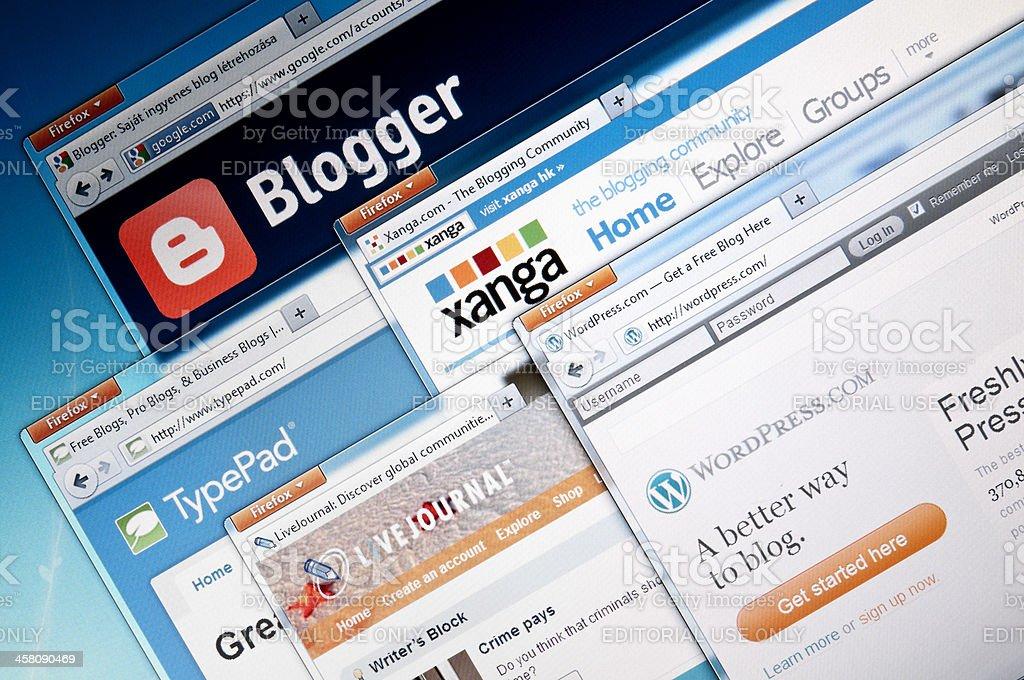 Blog-Publishing web sites royalty-free stock photo