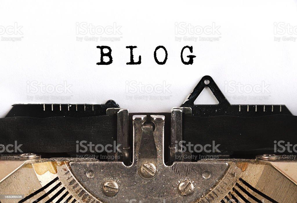 BlogTypewriter royalty-free stock photo