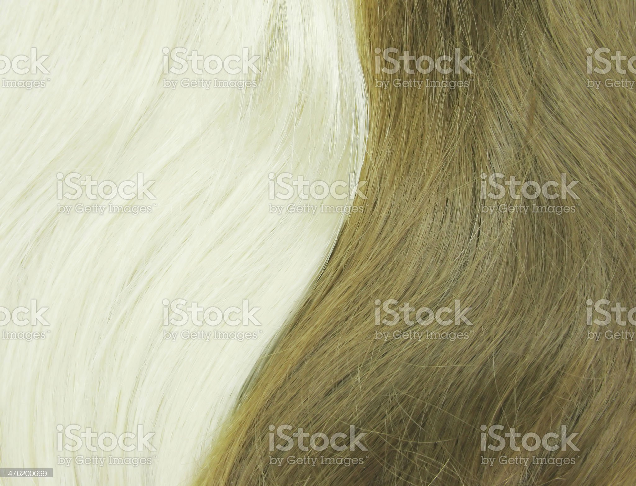 blond and black hair as texture background royalty-free stock photo