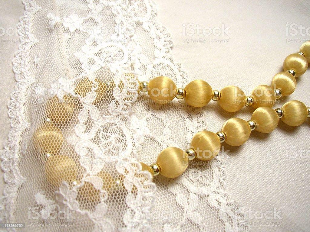 blond beads #1 stock photo