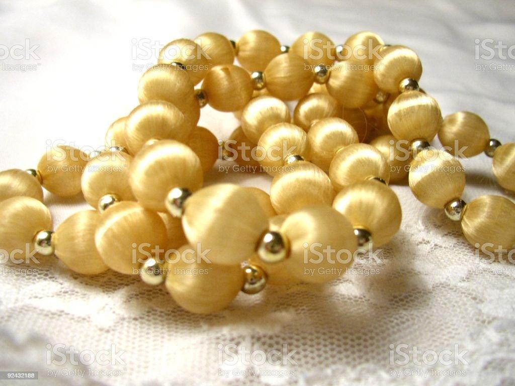 blond beads #2 stock photo