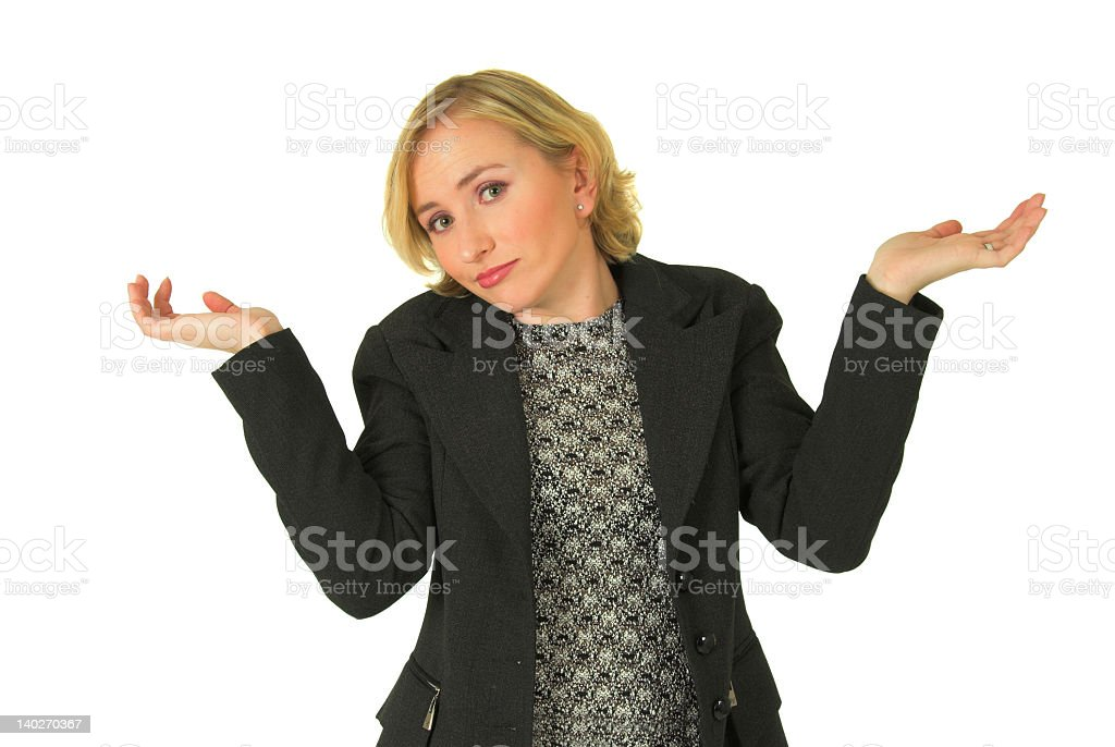 Blond business woman #2 royalty-free stock photo