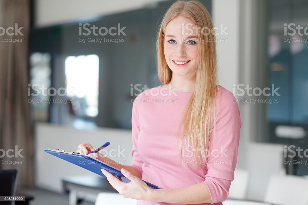 Blond businesswoman stock photo
