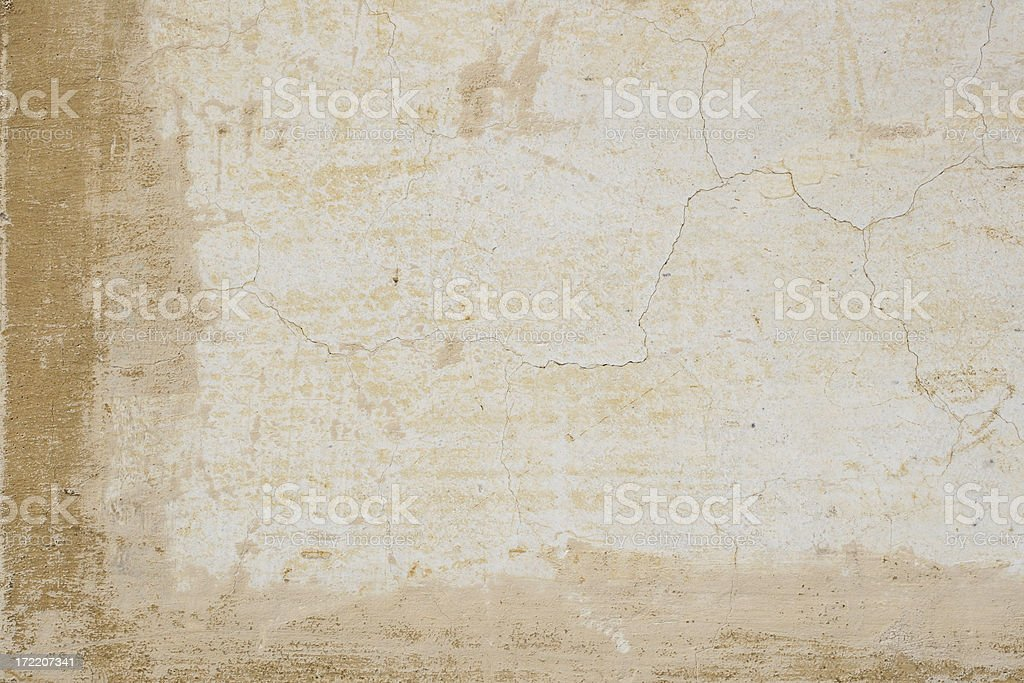 Blond crackled Roman wall texture royalty-free stock photo