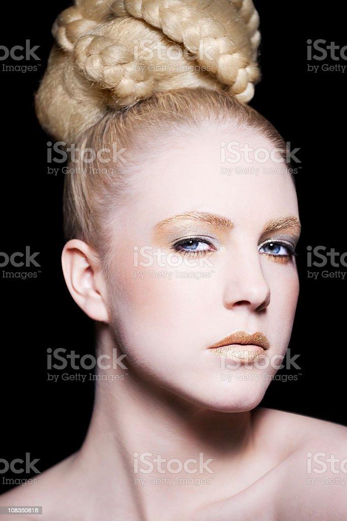 Blond Female Beauty stock photo