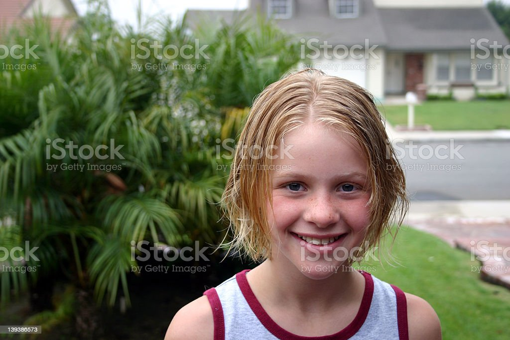 Blond Girl Smiling royalty-free stock photo