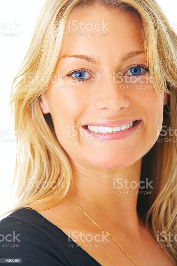 Blond Hair and Blue Eyes stock photo