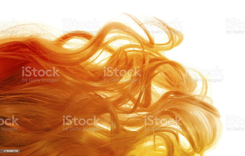 Blond hair blowing in the wind royalty-free stock photo