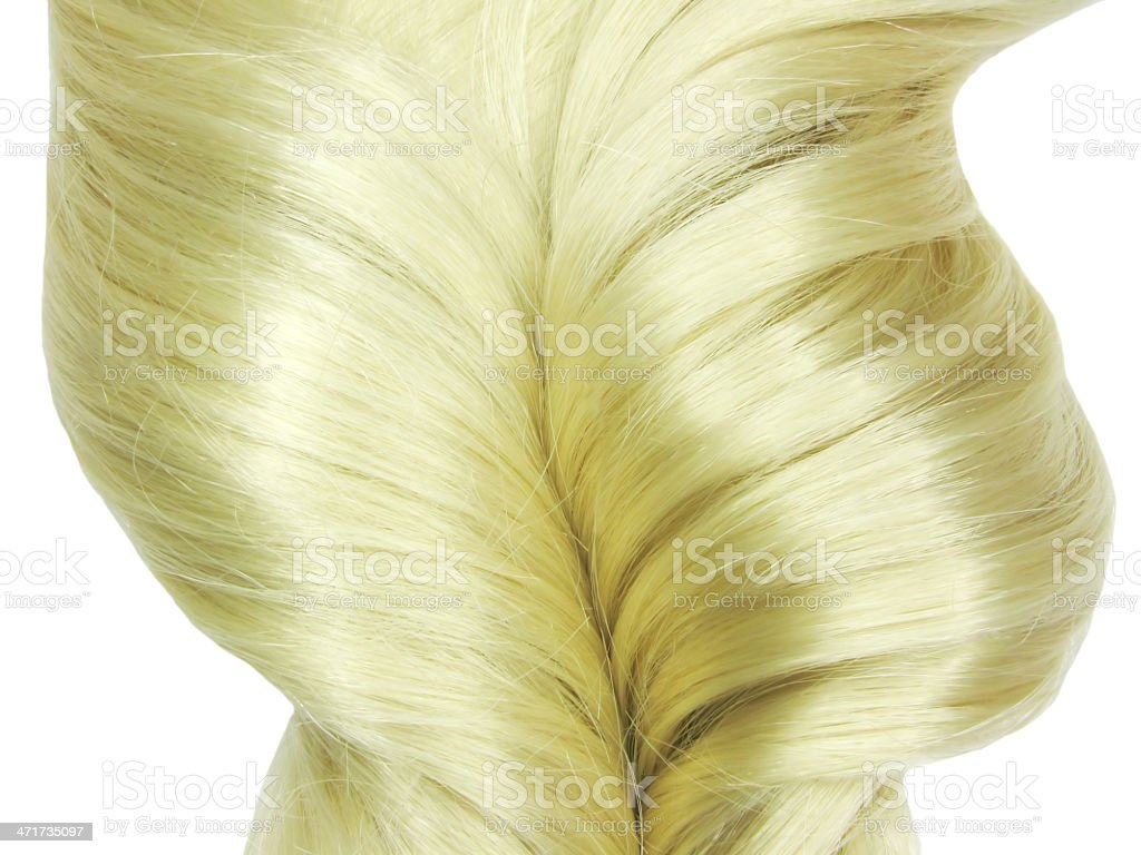 blond hair coiffure royalty-free stock photo