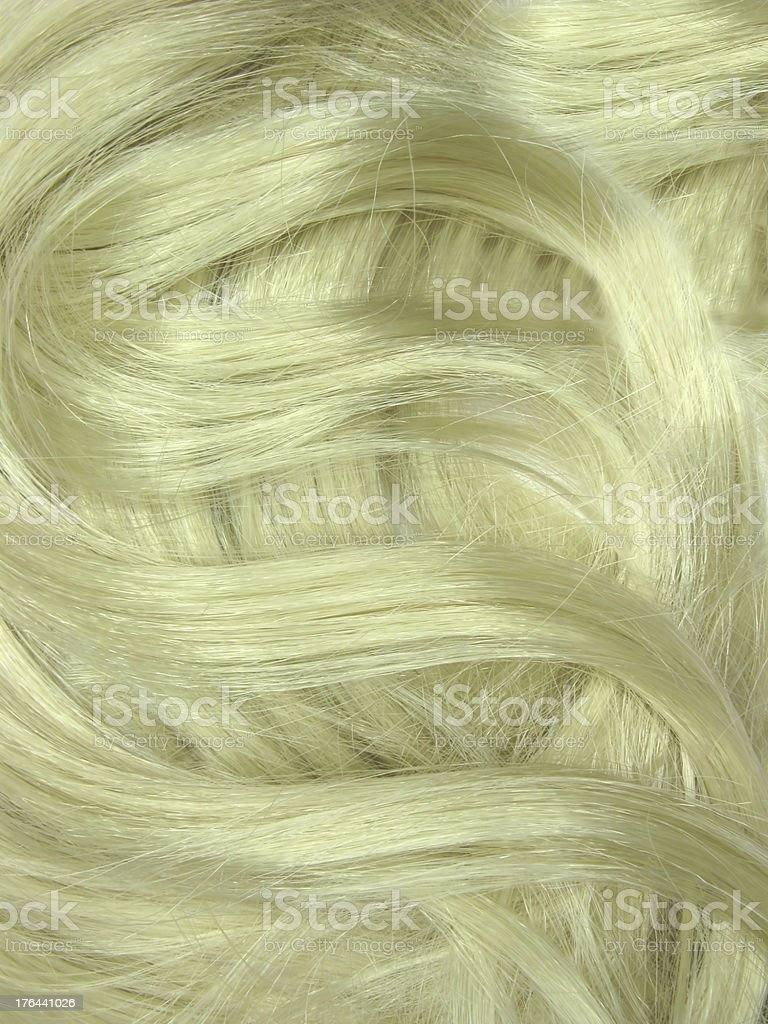 blond hair curls as texture background royalty-free stock photo