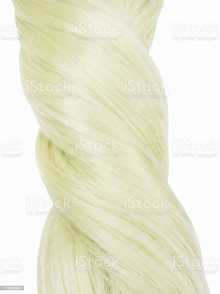 blond hair knot texture background royalty-free stock photo