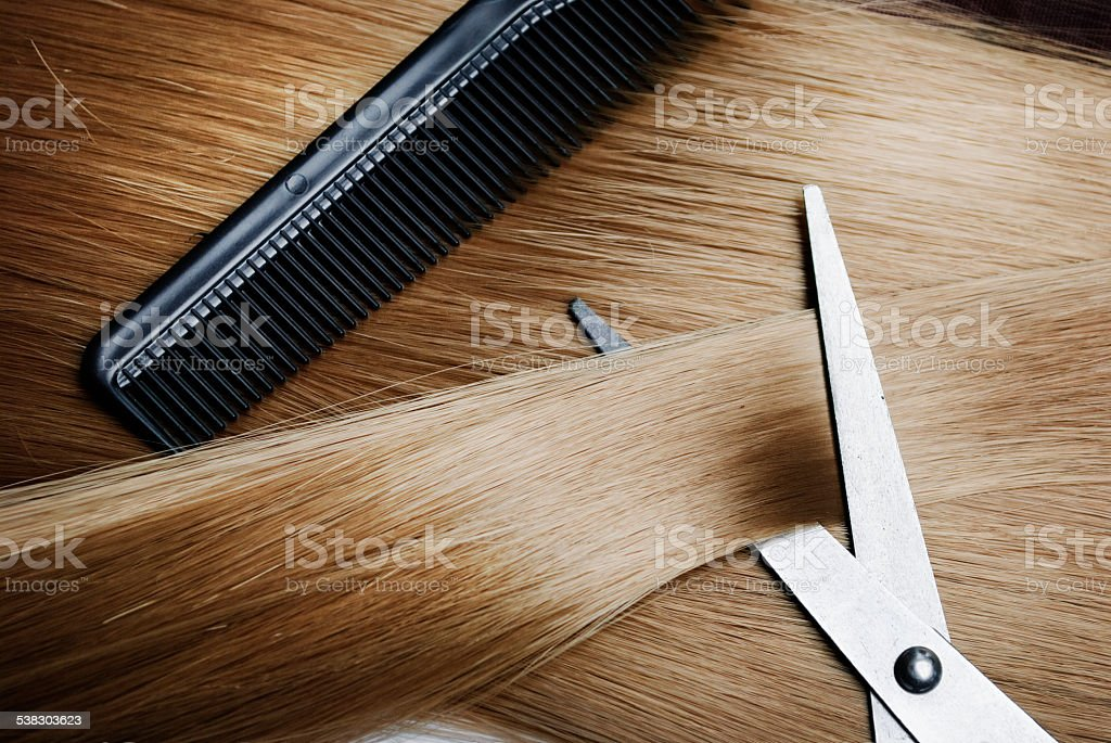 Blond Hair stock photo