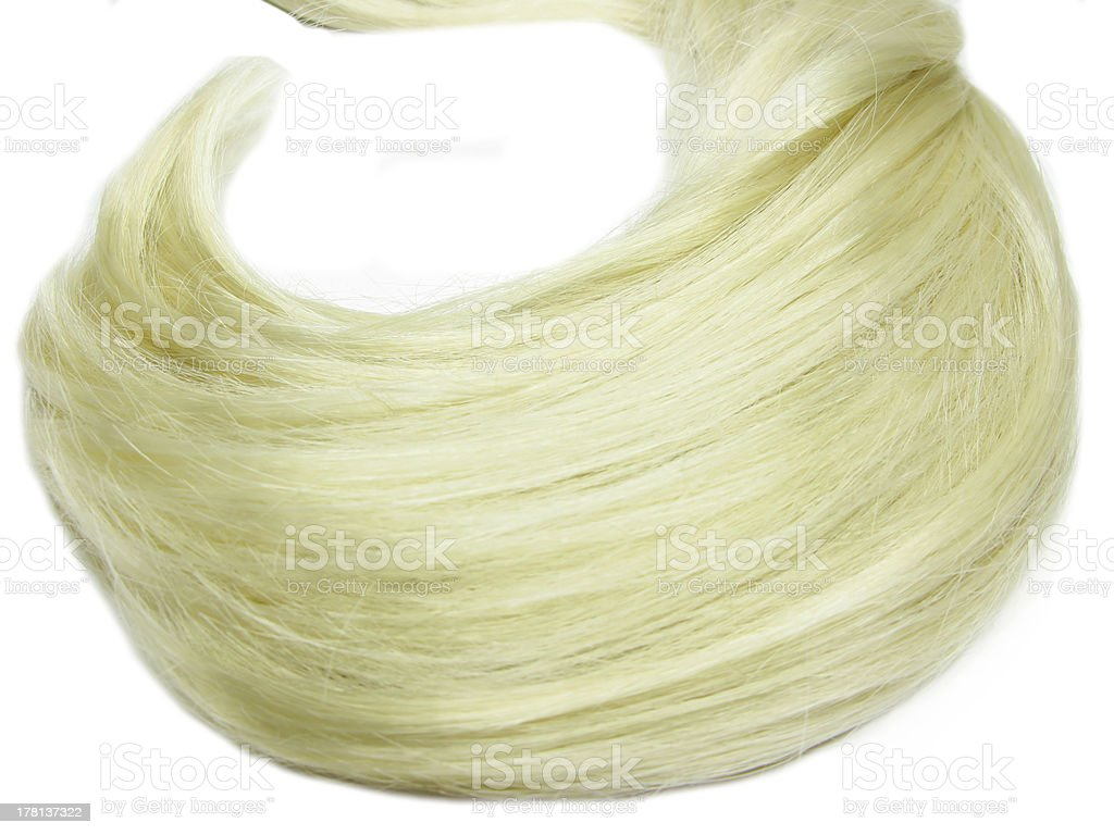 blond hair wave royalty-free stock photo