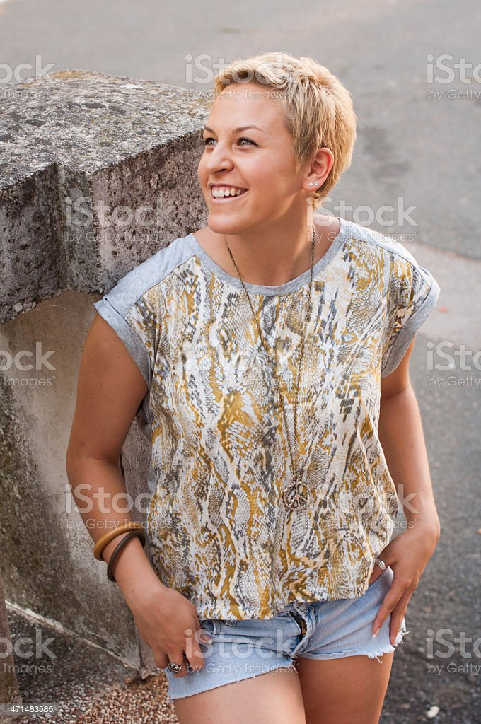 Blond hipster girl royalty-free stock photo