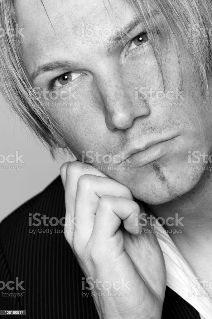 blond man portrait royalty-free stock photo