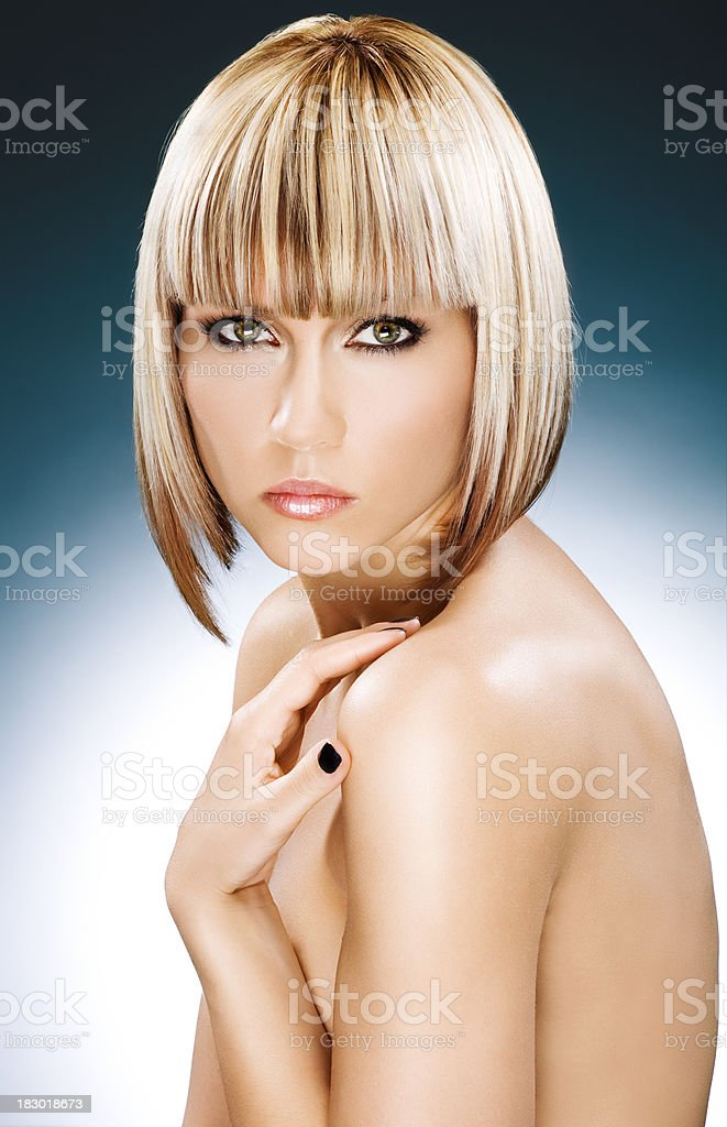 blond model posing royalty-free stock photo
