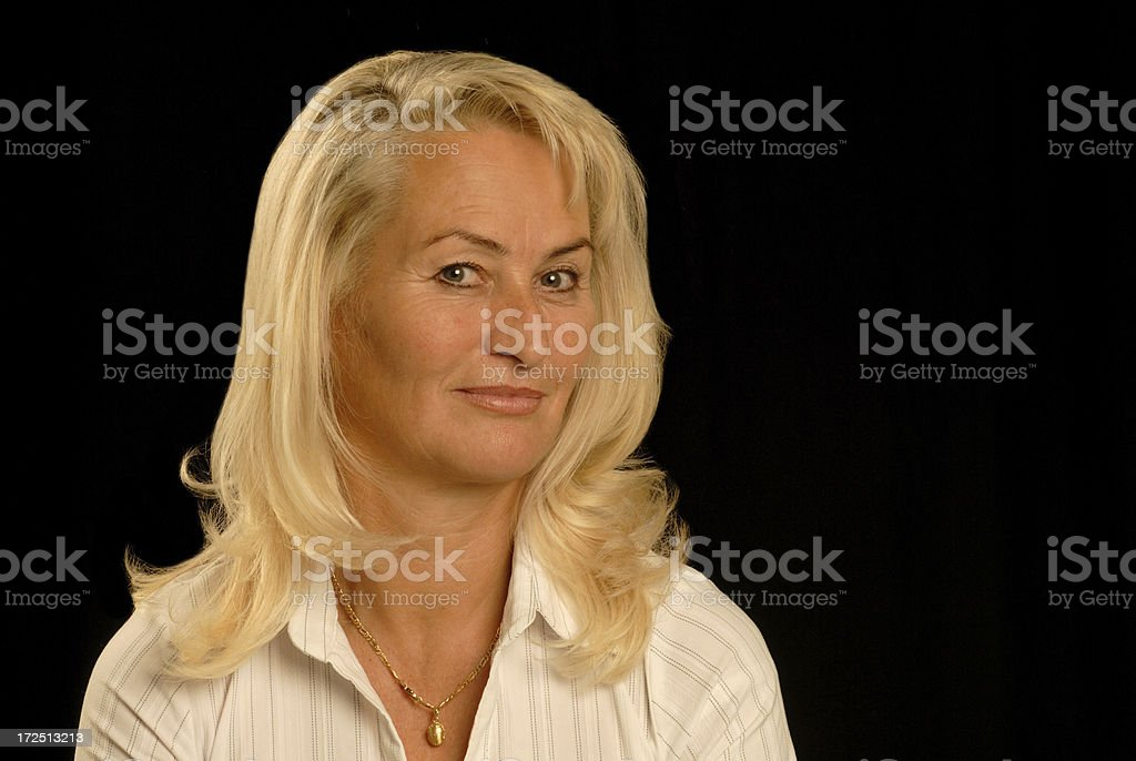 blond senior lady royalty-free stock photo