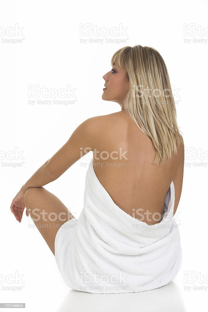 Blond spa girl royalty-free stock photo