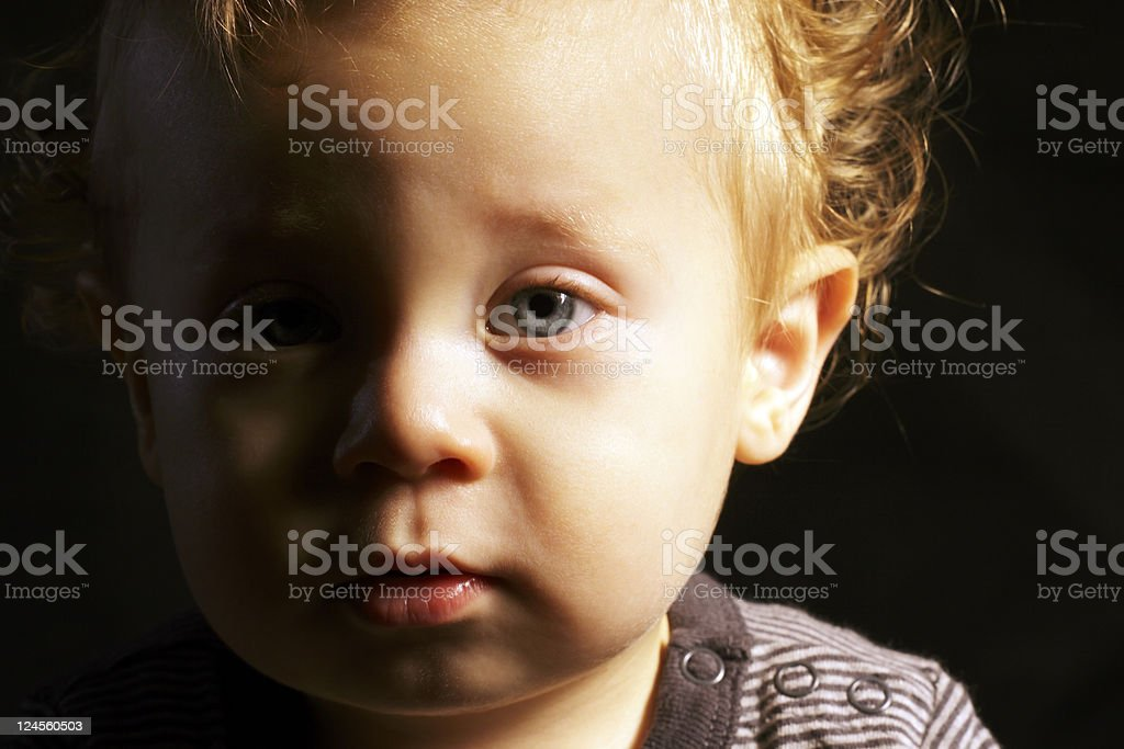 Blond Toddler Boy Close-up royalty-free stock photo