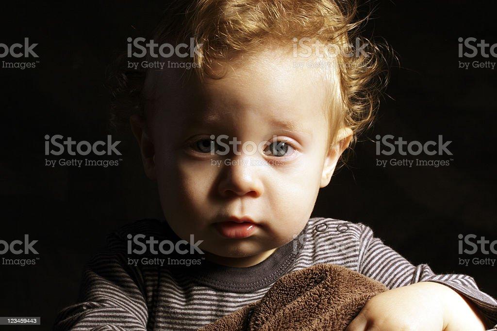 Blond Toddler Boy stock photo