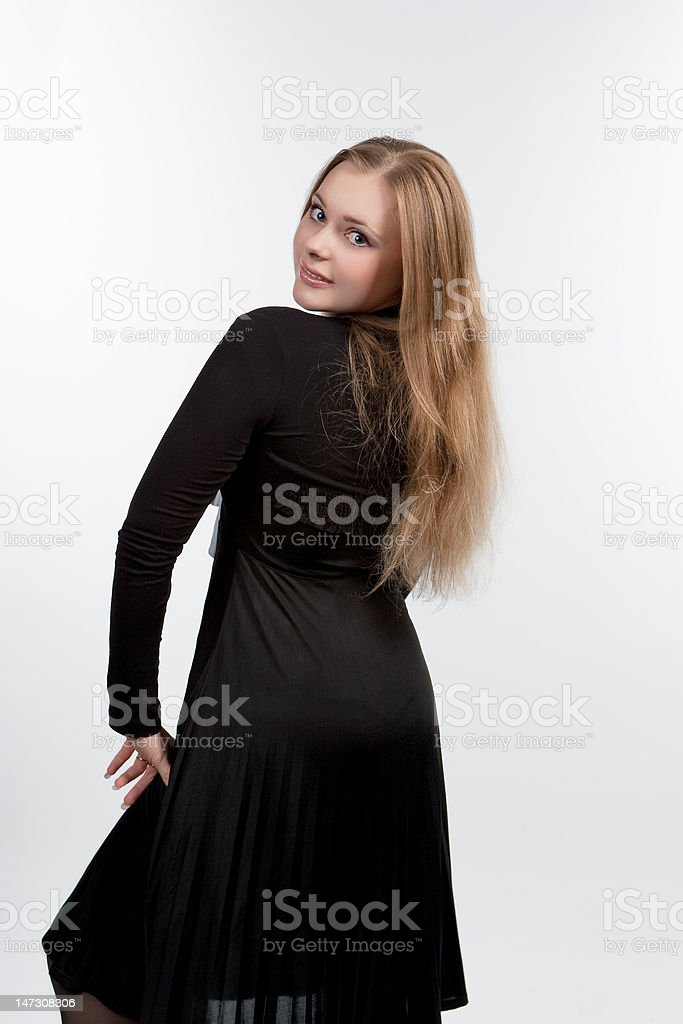 blond turned backwards royalty-free stock photo