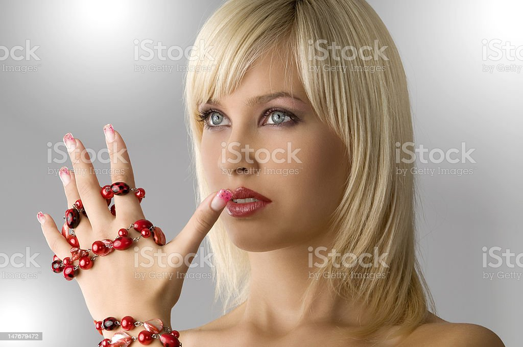 blond with necklace royalty-free stock photo