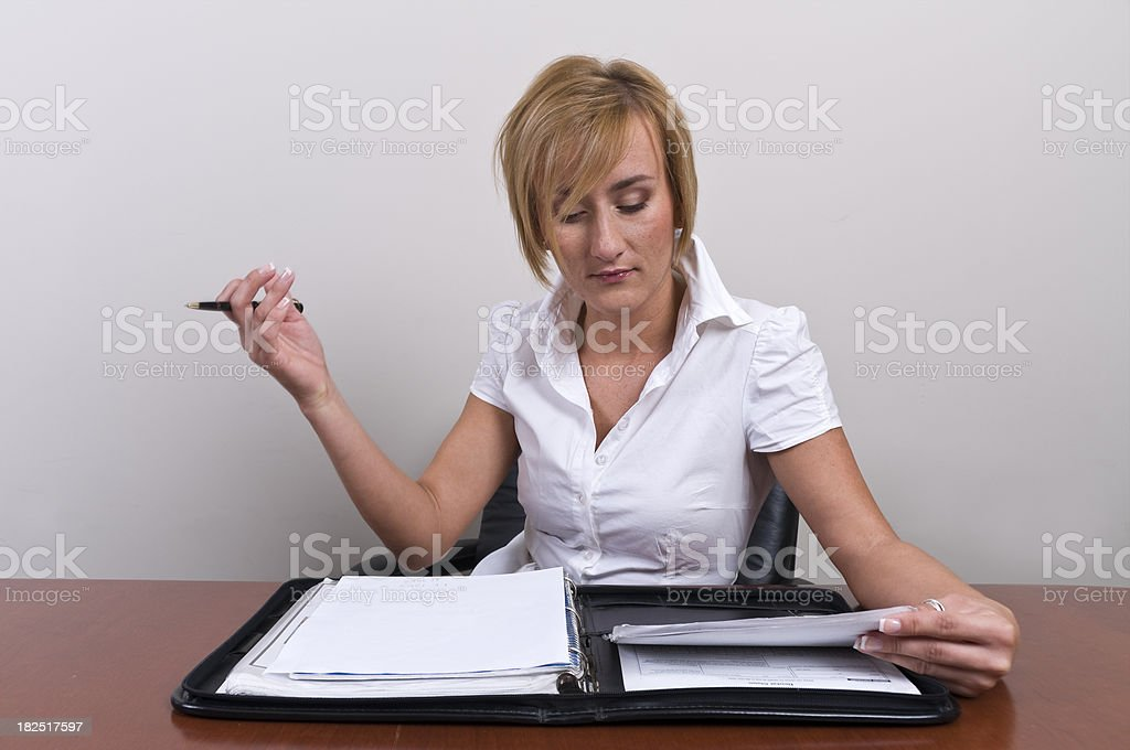Blond Woman Executive stock photo