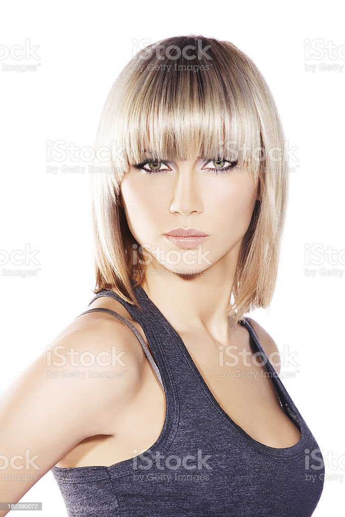blond woman looking at camera royalty-free stock photo