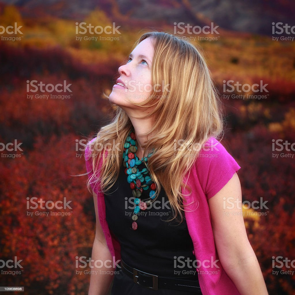Blond woman royalty-free stock photo