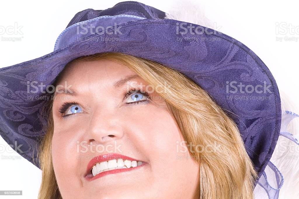 Blond woman smiling. royalty-free stock photo