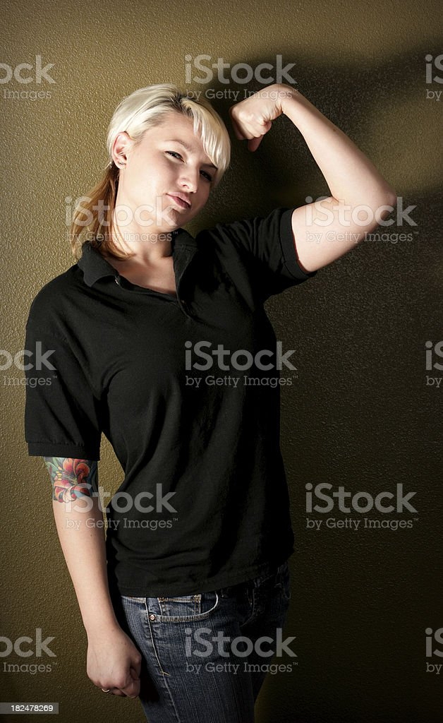 Blonde and Strong royalty-free stock photo