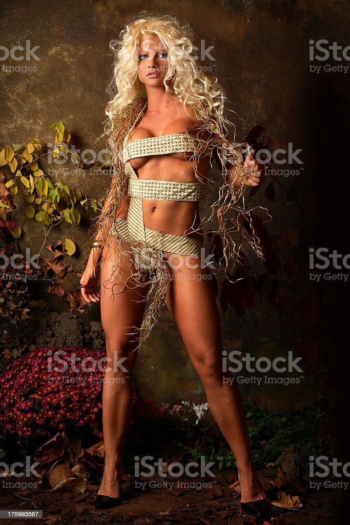 Blonde attraction royalty-free stock photo