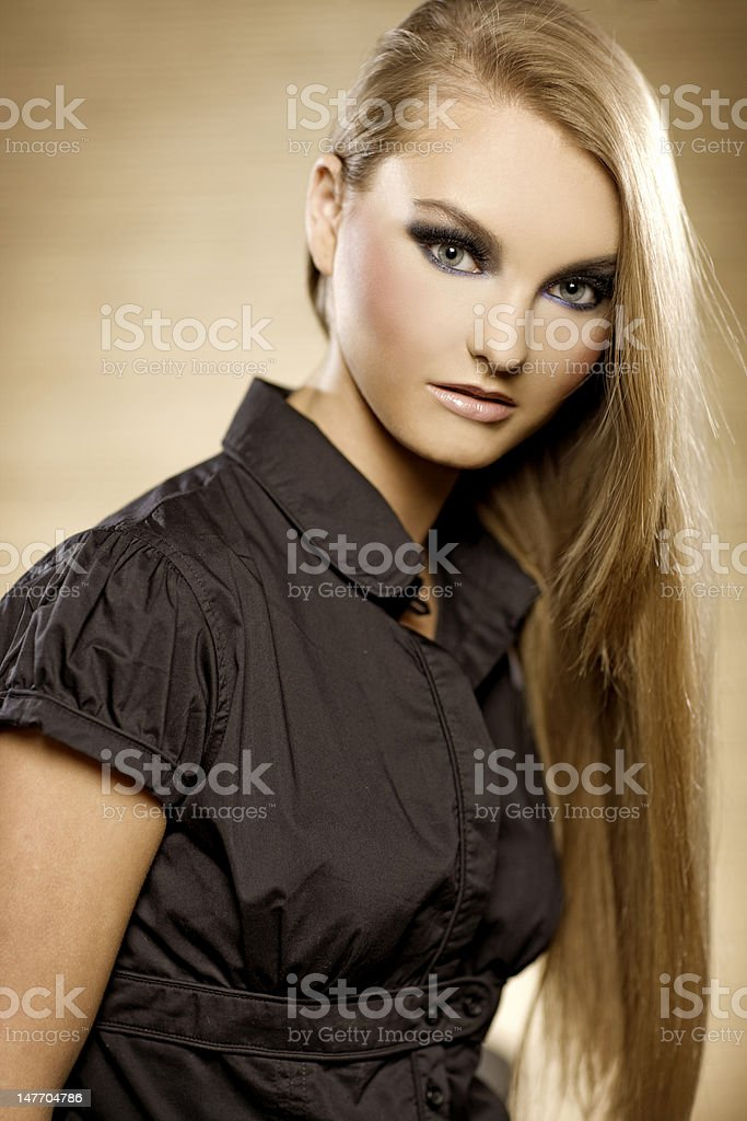blonde babe royalty-free stock photo