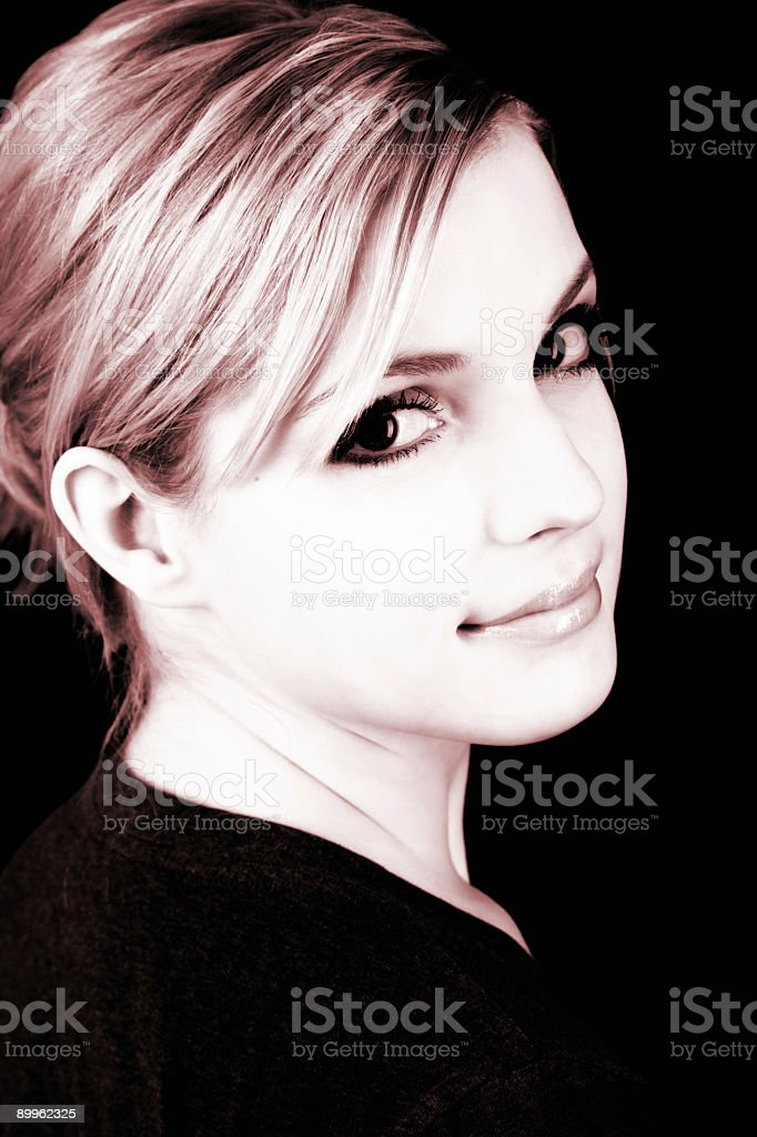 Blonde Beauty / Colour Effect royalty-free stock photo