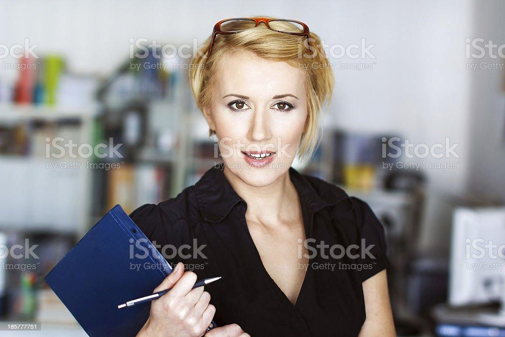 Blonde businesswoman royalty-free stock photo