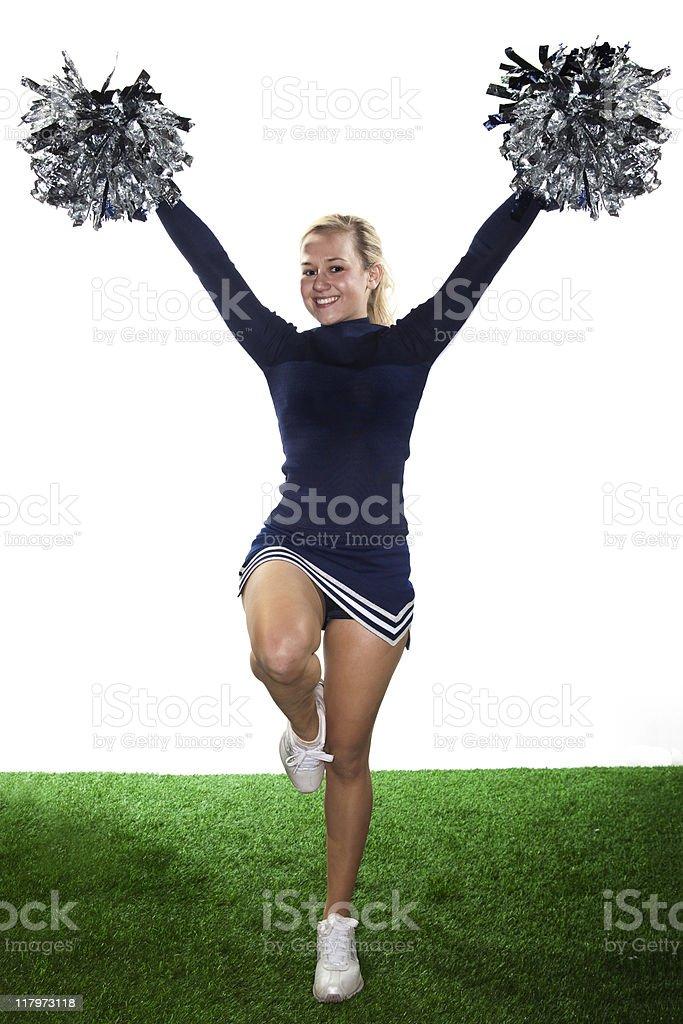Blonde Cheerleader royalty-free stock photo