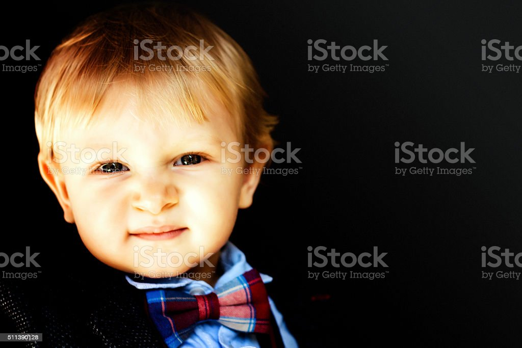 blonde child stock photo
