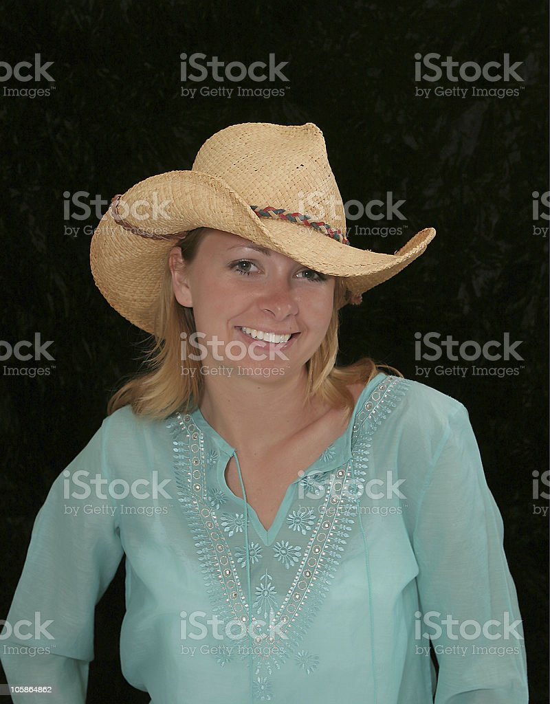Blonde Cowgirl royalty-free stock photo