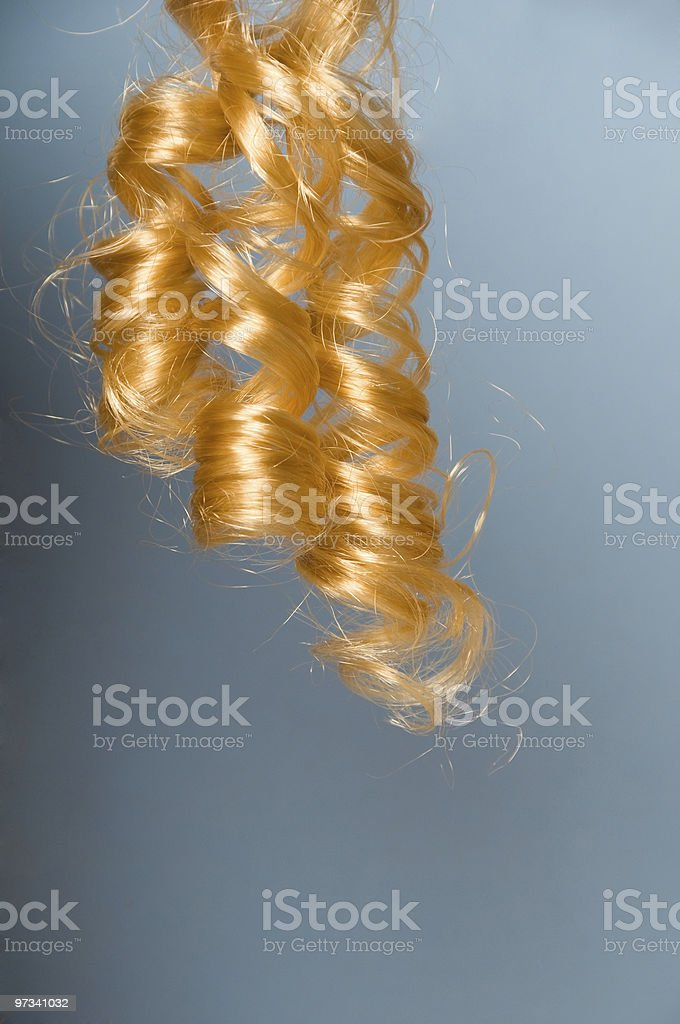 Blonde curly hair stock photo