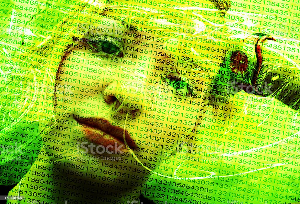 Blonde Digital Girl royalty-free stock photo