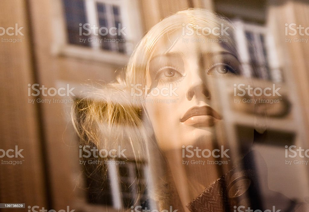 Blonde Female Dummy (Close View) stock photo