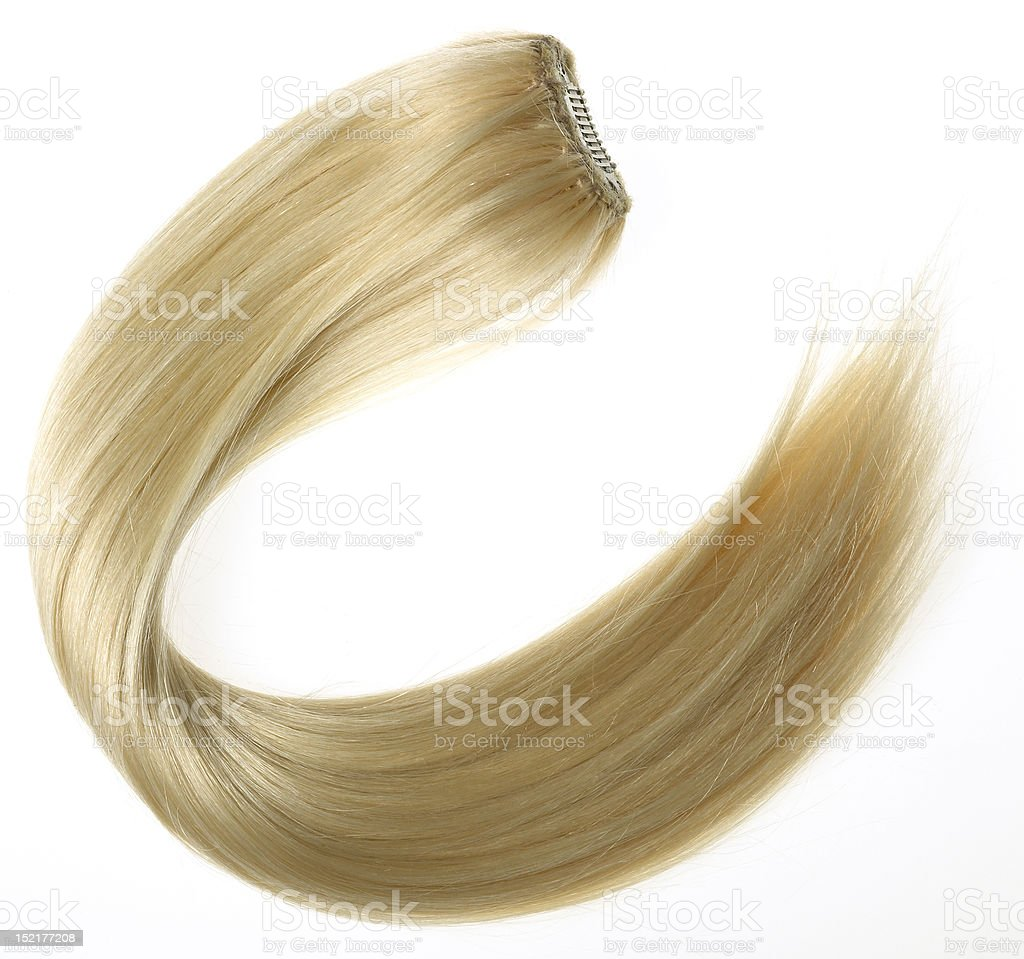 Blonde Hair Extension stock photo