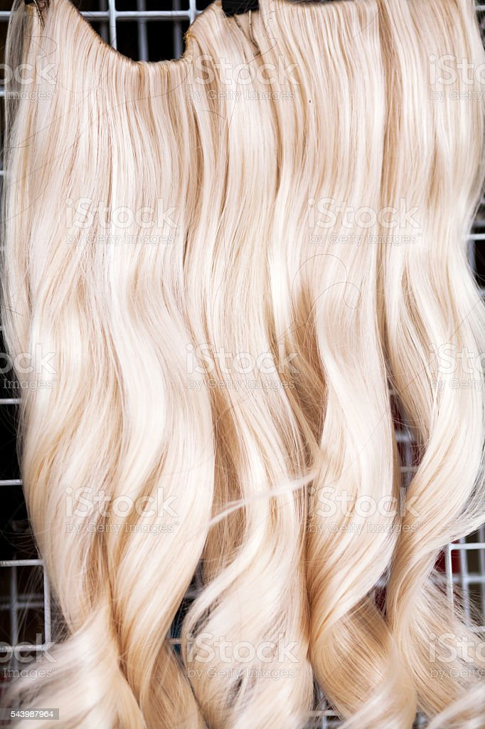 Blonde hair extensions stock photo