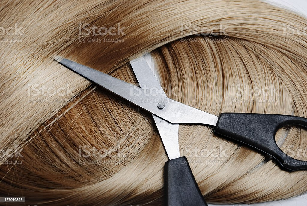 Blonde Hair stock photo