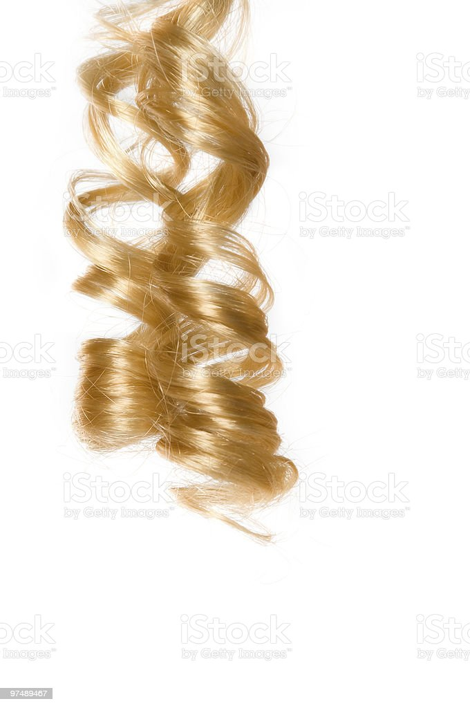 Blonde hair stock photo